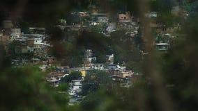 Υψηλού επιπέδου άποψη σχετικά με Rocinha Favelas Στοκ Φωτογραφία