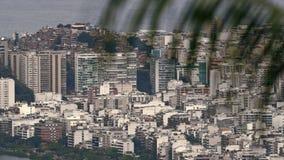 Υψηλού επιπέδου άποψη σχετικά με Rocinha Favelas Στοκ Εικόνες