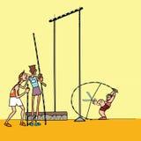 Υψηλός αθλητισμός αθλητών άλματος Στοκ Εικόνες