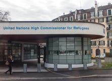 Υψηλός ακόλουθος Ηνωμένων Εθνών για το cUnhcr Γενεύη προσφύγων στοκ εικόνες