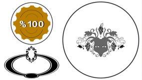 Υψηλός - βασιλικά εμβλήματα λογότυπων ποιοτικών σημαδιών & πολυτέλειας Στοκ Φωτογραφίες