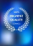 Υψηλός - ετικέτα ποιοτικών προϊόντων Στοκ φωτογραφία με δικαίωμα ελεύθερης χρήσης