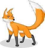 Υψηλός - διανυσματική απεικόνιση κινούμενων σχεδίων ποιοτικών αλεπούδων Στοκ Φωτογραφία