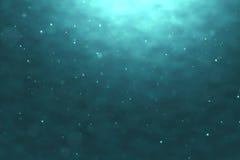 Υψηλός - ποιοτικός τέλεια άνευ ραφής βρόχος των βαθιών μπλε ωκεάνιων κυμάτων από το υποβρύχιο υπόβαθρο με τη ροή μορίων μικροϋπολ Στοκ φωτογραφίες με δικαίωμα ελεύθερης χρήσης