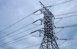 Υψηλός πύργος ηλεκτρικός στοκ φωτογραφίες