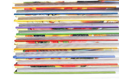 Υψηλός σωρός βιβλίων που απομονώνεται στο άσπρο υπόβαθρο Στοκ Φωτογραφίες