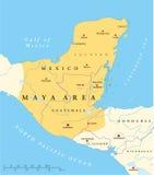 Υψηλός χάρτης περιοχής πολιτισμού της Maya απεικόνιση αποθεμάτων