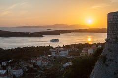 υψηλό ηλιοβασίλεμα θάλασσας διάλυσης jpg Στοκ Φωτογραφίες