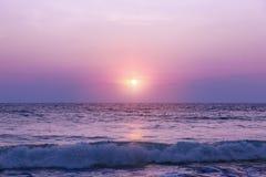 υψηλό ηλιοβασίλεμα θάλασσας διάλυσης jpg Στοκ Φωτογραφία