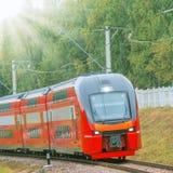 υψηλό σύγχρονο τραίνο ταχύ&ta Στοκ Εικόνα