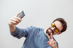 Υψηλό selfie Στοκ εικόνες με δικαίωμα ελεύθερης χρήσης