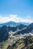 Υψηλό Tatras, τοπίο από Lomnicky stit Στοκ Φωτογραφία