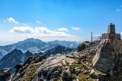 Υψηλό Tatras, τοπίο από Lomnicky stit Στοκ Εικόνα