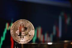 Υψωτική συνάθροιση διαγραμμάτων Bitcoin Στοκ Εικόνες