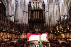 Υόρκη, Ηνωμένο Βασίλειο - 02/08/2018: Μέσα στο μοναστηριακό ναό της Υόρκης στοκ εικόνες με δικαίωμα ελεύθερης χρήσης