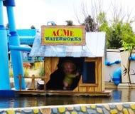 Υδάτινα έργα ΑΠΟΚΟΡΥΦΩΜΑΤΩΝ, πάρκο Warner, Μαδρίτη Στοκ Φωτογραφίες