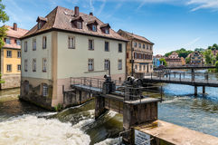 Υδάτινα έργα στη Βαμβέργη, Γερμανία Στοκ φωτογραφίες με δικαίωμα ελεύθερης χρήσης