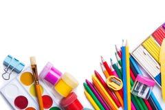 Υλικά για τη δημιουργικότητα των παιδιών στοκ εικόνες