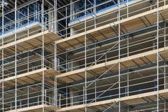 Υλικά σκαλωσιάς - εργασία οικοδόμησης, Λονδίνο, UK Στοκ φωτογραφία με δικαίωμα ελεύθερης χρήσης