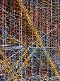 Υλικά σκαλωσιάς κατασκευής Στοκ εικόνα με δικαίωμα ελεύθερης χρήσης
