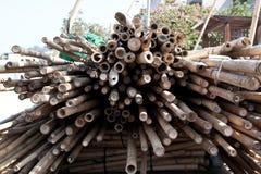 Υλικά σκαλωσιάς μπαμπού κατασκευής Στοκ φωτογραφία με δικαίωμα ελεύθερης χρήσης