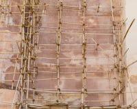 Υλικά σκαλωσιάς μπαμπού στην Ινδία Στοκ εικόνες με δικαίωμα ελεύθερης χρήσης