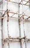 υλικά σκαλωσιάς ξύλινα Στοκ Φωτογραφία
