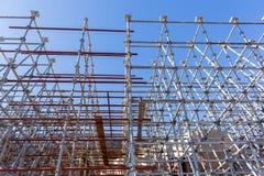 Υλικά σκαλωσιάς χάλυβα κατασκευής Στοκ εικόνα με δικαίωμα ελεύθερης χρήσης