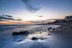 Υλικά σκαλωσιάς Tekirdag, Τουρκία σιδήρου ηλιοβασιλέματος Στοκ εικόνα με δικαίωμα ελεύθερης χρήσης