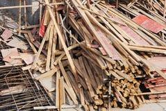 Υλικά στο εργοτάξιο οικοδομής Στοκ Φωτογραφίες