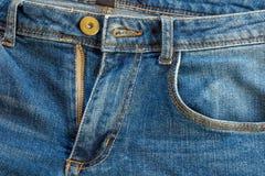 υλική σύσταση μερών τζιν παντελόνι στοκ φωτογραφίες