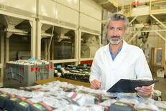 Υλικός επιθεωρητής στο εργοστάσιο Στοκ εικόνες με δικαίωμα ελεύθερης χρήσης