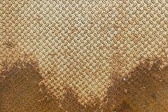 Υλικό πατωμάτων πιάτων διαμαντιών φύλλων μετάλλων με τη σκουριά Στοκ Εικόνες