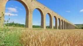 Υδραγωγείο Noain, Παμπλόνα, Ισπανία απόθεμα βίντεο