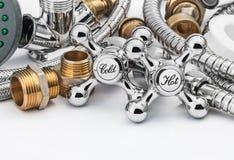 Υδραυλικά και εργαλεία Στοκ Εικόνα