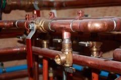 Υδραυλικά, νέα κατασκευή Στοκ Εικόνες