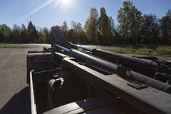 Υδραυλική σε ένα φορτηγό στοκ φωτογραφία με δικαίωμα ελεύθερης χρήσης