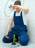 υδραυλικός που κουράζ&e Στοκ Εικόνες