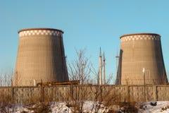 Υδροηλεκτρικός σταθμός πύργων Στοκ εικόνα με δικαίωμα ελεύθερης χρήσης