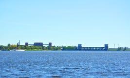 Υδροηλεκτρικός σύνθετος του Rybinsk Στοκ Εικόνα