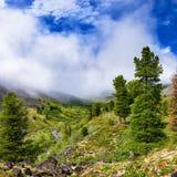 Υδρονέφωση αύξησης πέρα από την κοιλάδα του ρεύματος βουνών Στοκ φωτογραφία με δικαίωμα ελεύθερης χρήσης