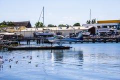 Υδροπλάνο που μπαίνει σε το λιμάνι Στοκ Εικόνα