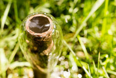Υδροσωλήνας για το πότισμα στο πάρκο Στοκ εικόνες με δικαίωμα ελεύθερης χρήσης