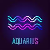 Υδροχόος, zodiac σημάδι Στοκ εικόνες με δικαίωμα ελεύθερης χρήσης