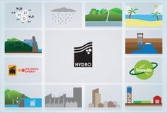 Υδρο εικονίδιο ελεύθερη απεικόνιση δικαιώματος