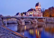 Υδρο δύναμη Hradec Kralove cesky τσεχική πόλης όψη δημοκρατιών krumlov μεσαιωνική παλαιά Στοκ Εικόνες