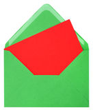 φάκελος καρτών πράσινος στοκ φωτογραφία με δικαίωμα ελεύθερης χρήσης