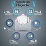 Φάκελος, ταχυδρομείο, ηλεκτρονικό ταχυδρομείο - επιχείρηση infographic ελεύθερη απεικόνιση δικαιώματος