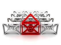 φάκελος spam Στοκ εικόνα με δικαίωμα ελεύθερης χρήσης