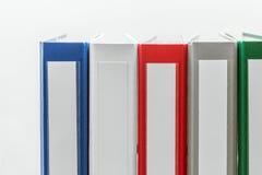 Φάκελλοι σε μια σειρά στη δεξιά γωνία Στοκ Εικόνες